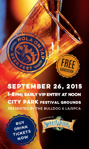 The Bulldog and Louisiana SPCA Present the 6th Annual NOLA on Tap Beer Fest 2015