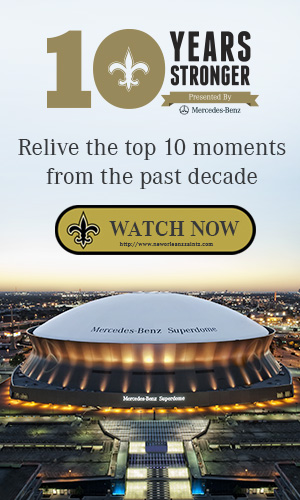 Relive the top plays with Mercedes-Benz as we celebrate New Orleans being 10 Years Stronger.