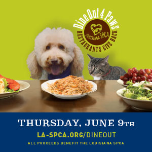Save the date! Dine Out 4 Paws will be June 9, 2016.