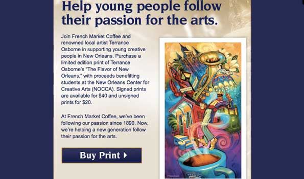 French Market Coffee and Artist Terrance Osborne help young people follow their passion for the arts | New Orleans News | InthekNOwla.com