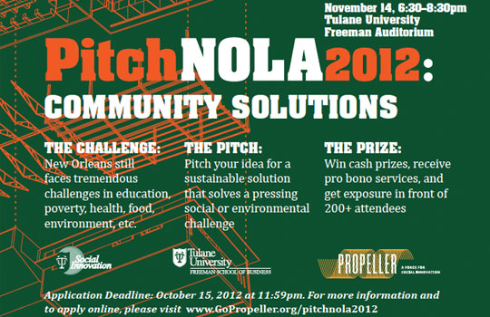 PitchNOLA Community Solutions 2012 | IntheNOLA.com