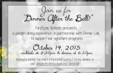 FirstLine Schools, Dinner Lab host 'garden dining experience' to support signature educational programs, October 14