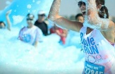 Running gets cleaner at the 'Bubble Run' benefiting the Plaquemines Animal Welfare Society, October 18